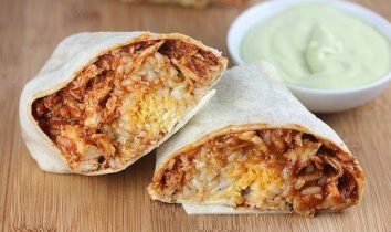 Chicken Burritos with Avocado-Ranch Dressing
