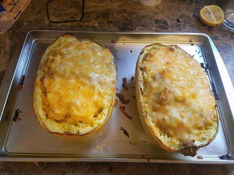 Chicken Stuffed Spaghetti Squash
